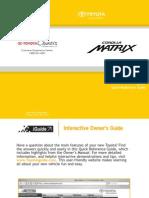 2009 Toyota Matrix Manual