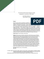 Cardoso Júnior, J. C., & Castro, J. A. (2016). Economia política das finanças sociais brasileiras no período 1995-2002. Economia E Sociedade, 15(1), 145-174 (1)