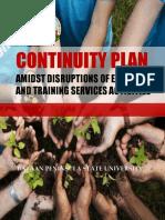 Etso Continuity Plan 2020