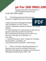 16 Steps for ISO 9001