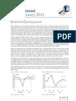 Prévisions intermédiaires de croissance pour 2011