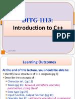 Lecture 3 - Introduction to C plus plus ICT