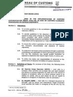 Bureau of Customs Customs Memorandum Order No. 09-2021