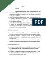 test 1 Semiologie