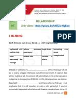 Relationship - 10 Chủ Đề Lớn Trong Ielts - Ielts Fighter