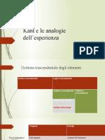 Kant e le analogie dell'esperienza