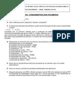Exercícios_fundamentos dos polímeros