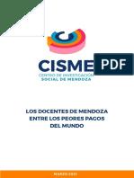 Los Docentes de Mendoza Entre Los Peores Pagos Del Mundo