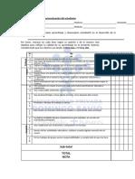 Autoevaluación del estudiante (3)