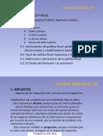 Tema 10. LA POLITICA FISCAL II