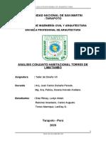 ANALISIS CONJUNTO HABITACIONAL TORRES DE LIMATAMBO V.2