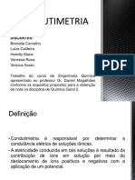 CONDUTIMETRIA - SLIDES final