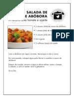 Salada de Casca de Abóbora
