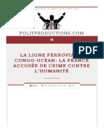 La ligne ferroviaire Congo-Océan- la France accusée de crime contre l'humanité | Politproductions.com