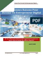 eBook Les 17 Bonnes Raisons Pour Devenir Entrepreneur Digital V2