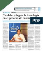 """""""Se debe integrar la tecnología en el proceso de enseñanza"""""""