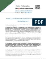 201105 FO VBN Lettre d'Information