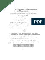 EXAMEN METHODE QUANTITATIVE IFID 2005 25 EME PROMOTION