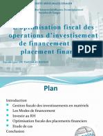 3- Optimi Fisc Des Opérations d'Investissement, De Placement ...