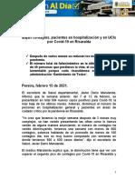 15.02.2021 Bajan contagios, pacientes en hospitalización y UCIS