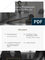 Developing Professionals - The BCG Way (a) - Group 1 - PIO YP64B
