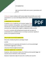 Elementi analisi del testo narrativa