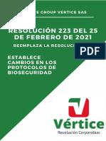 Resumen resolucion 223 de febrero 25 de 2021