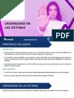 EL 90% CREE A MUJERES QUE FUERON VÍCTIMAS DE LA VIOLENCIA