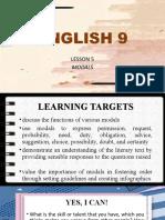 Lesson 5 - Modals