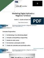 MARKETING DIGITAL APLICADO A NEGÓCIOS TURÍSTICOS  - S3 Gestão de Redes Sociais