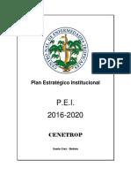 Plan Estrategico Institucional Cenetrop (1)