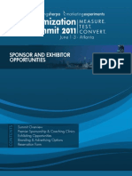 Optimization Summit 2011 - Sponsor Opportunities
