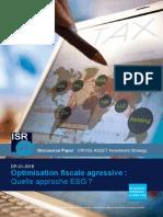 2018.03 - DP031_Optimisation fiscale agressive - Quelle approche ESG - FR (1)