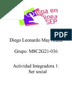 Actividad integradora 1. Ser social