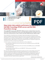 Enjoy better data analytics performance by upgrading to Dell EMC PowerEdge R7525 servers and Dell EMC PowerStore storage