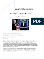 Barack Obama & Bill Clinton - Tax Presser