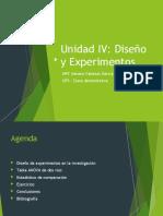 Unidad IV Diseño y Experimentos