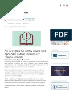 As 12 regras de Benny Lewis para aprender outros idiomas em tempo recorde