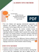 Inductive and Deductive Method