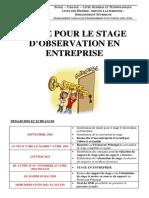 Guide Pour Le Stage d'Observation en Entreprise