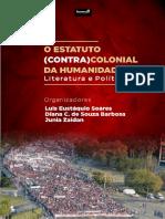 Livro Pronto - o Estatuto Contracolonial Da Humanidade-literatura e Politica 0