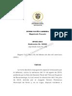 Estipulaciones Probatorias y Anexos, Arraigo y Del Delito de Inasistencia Alimentaria SP405-2021(56992)