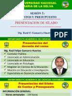 SESION 01 PRESENTACION SILABO CSA