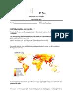 8º Ano - distribuição e evolução da população
