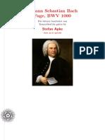 BWV 1000 - fuga