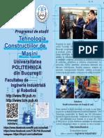 Specializarea Tehnologia Constructiilor de Masini Politehnica Bucuresti