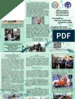 Flyer Departamentul Tehnologia Constructiilor de Masini Politehnica Bucuresti