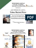 DIPLOMA PRESENTACION DE NIÑOS MINISTERIOS ADONAI