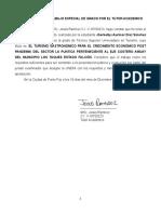 carta de aprobacion