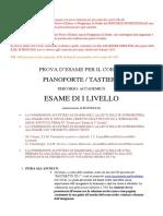 PROVE ESAME Pianoforte Tastiere 1.11